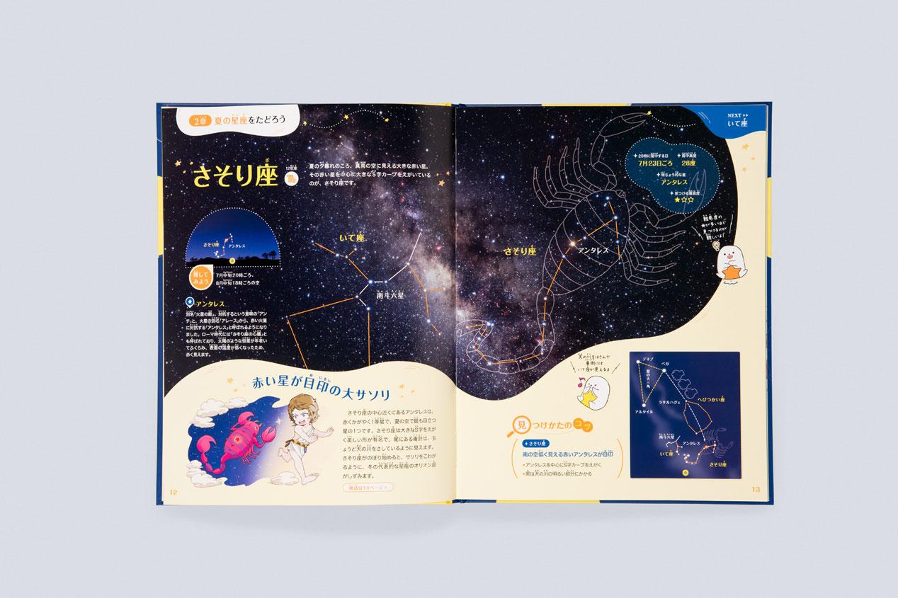 『まんが☆プラネタリウム 星座と神話』装丁・本文デザインの実績画像